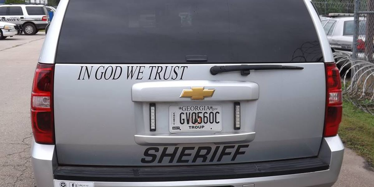 Patrol vehicles in Troup County to display 'In God We Trust' decals