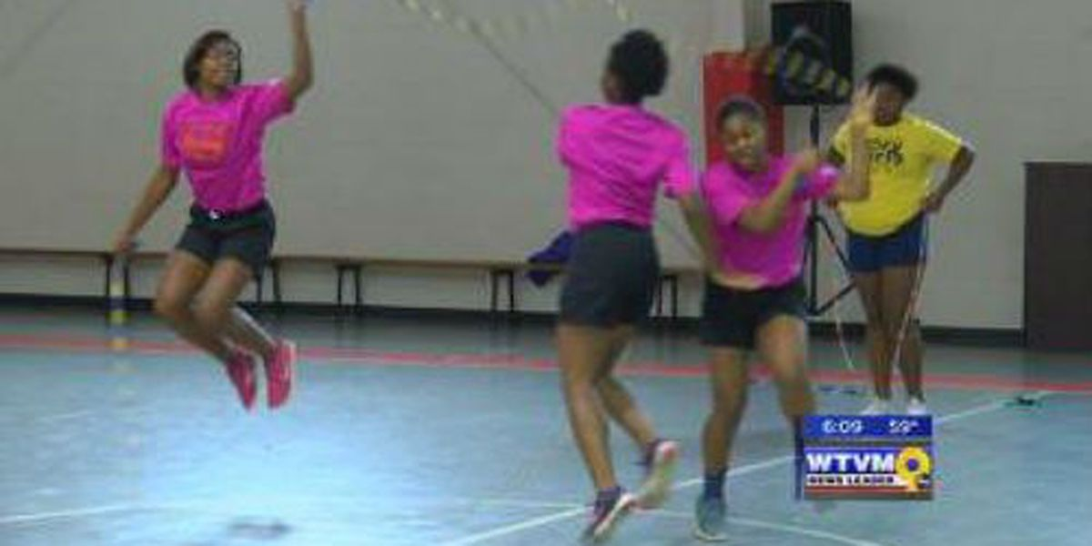Girls Inc. jump ropes for veterans
