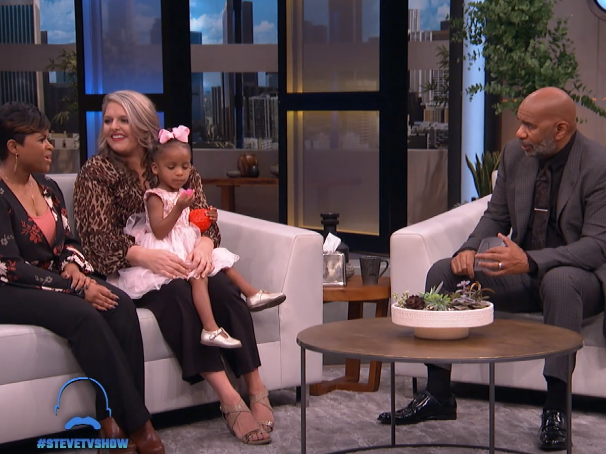 Columbus moms appear on Steve Harvey after heartwarming bond over daughter's hair goes viral
