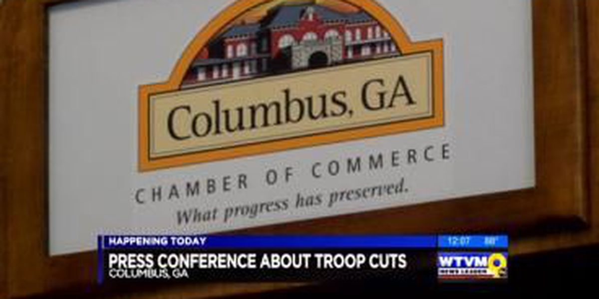 Columbus Chamber of Commerce holds press conference on Army budget cuts