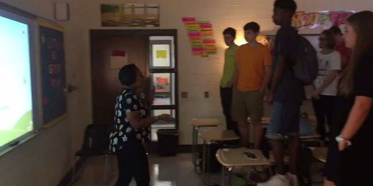 VIDEO: GA teacher motivates class with daily affirmation