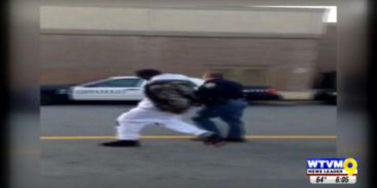 Officer arrest caught on video at Peachtree Mall