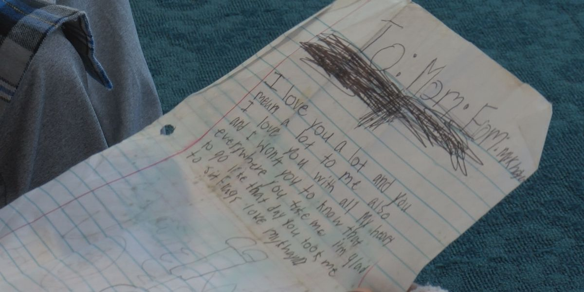 Letter from Alabama tornado victim found in debris