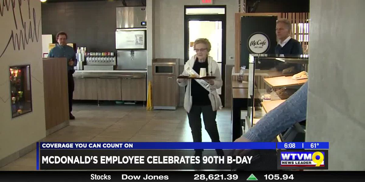 Power of Goodwill: McDonald's employee celebrates 90th birthday