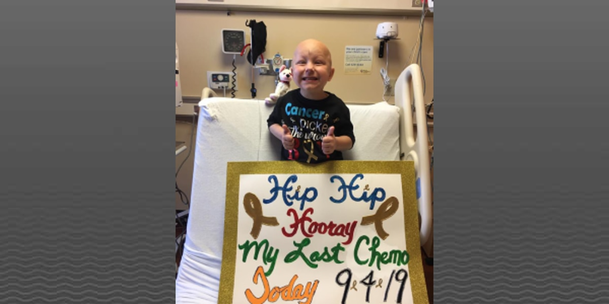 5-year-old battling bone cancer has last round of chemo