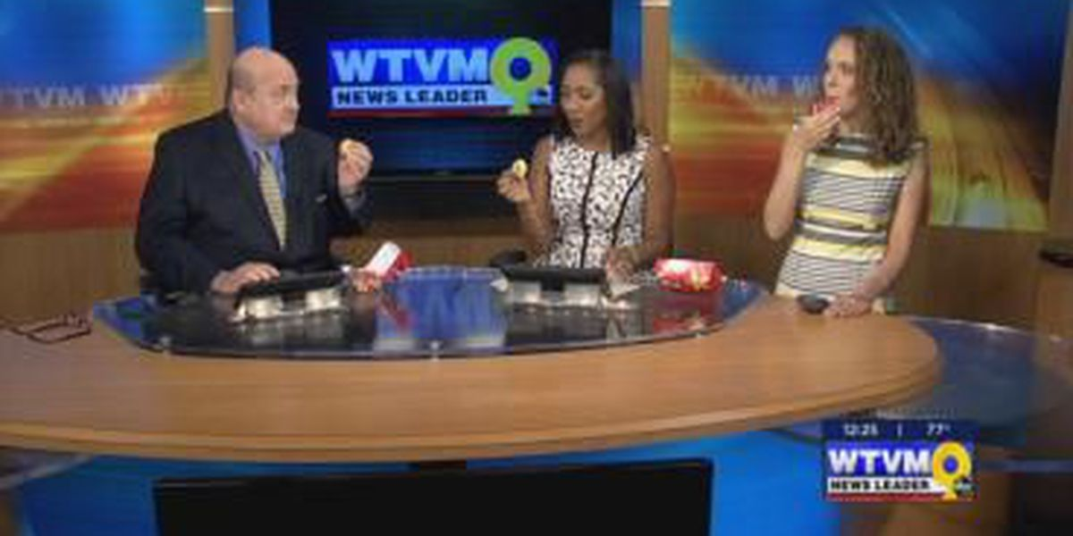 News Leader 9 tries out Hardees' new Froot Loop donuts