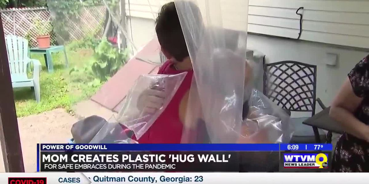 Power of Goodwill: Plastic 'Hug Wall'