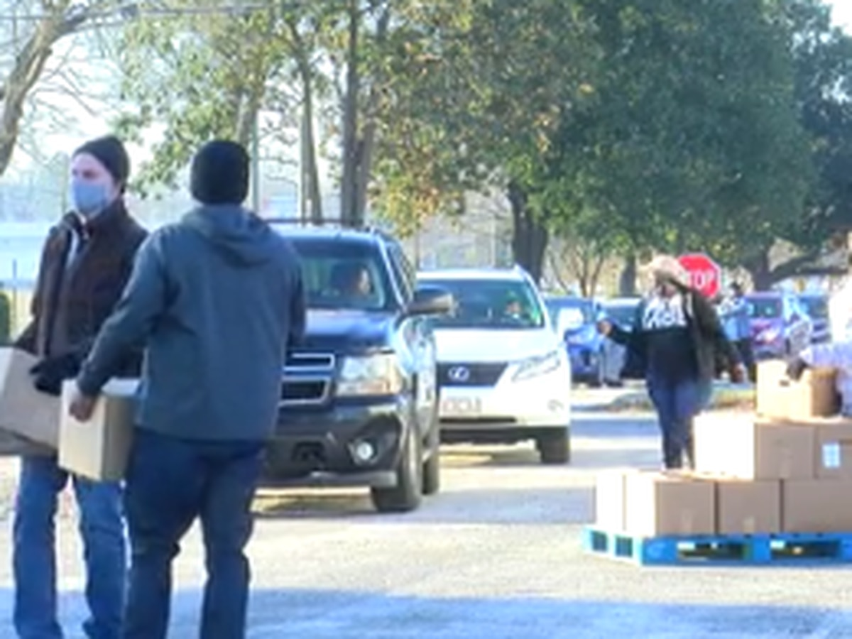 Nearly 1,200 food boxes given out during giveaway in Chambers Co.