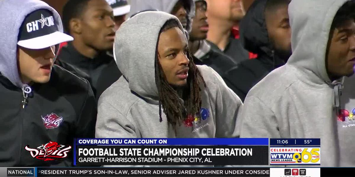 Central High School 7-A state football championship celebration