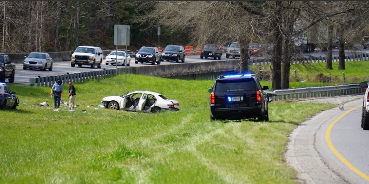 Traffic delayed on I-185 north following possible accident