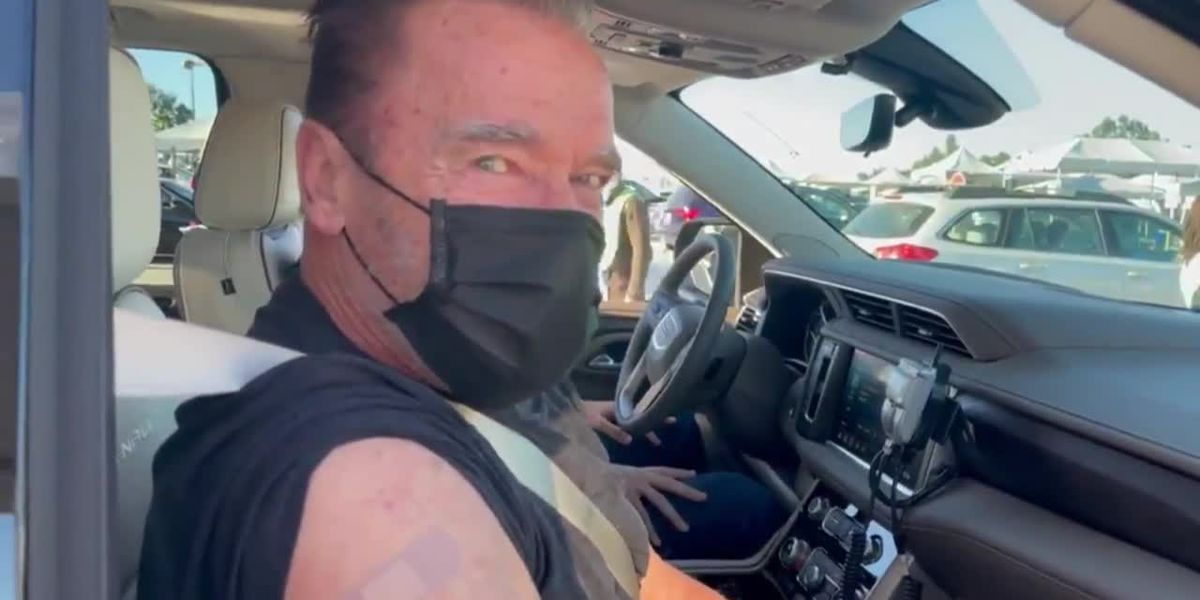 RAW: Schwarzenegger gets COVID-19 vaccine: 'Come with me if you want to live'