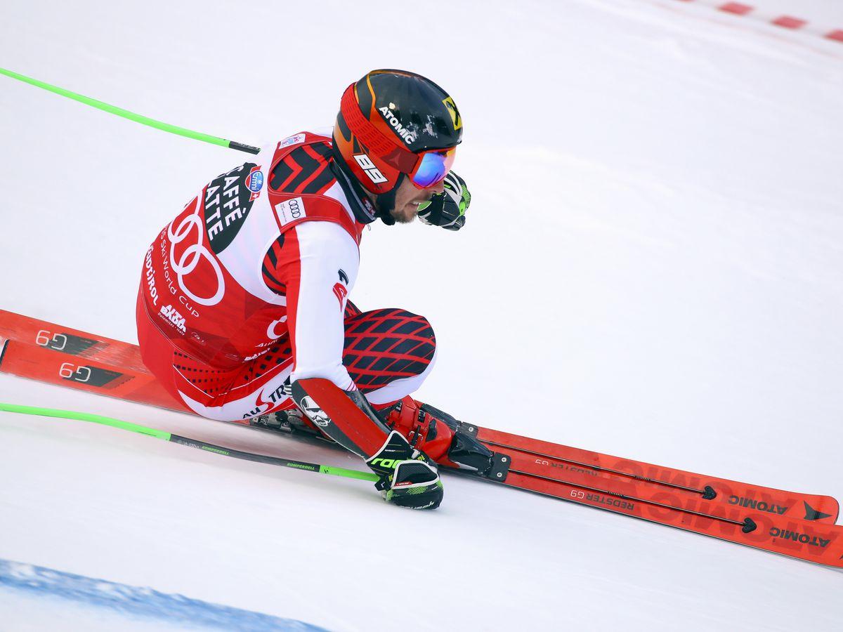 Hirscher dominates to take first-run lead in Alta Badia GS