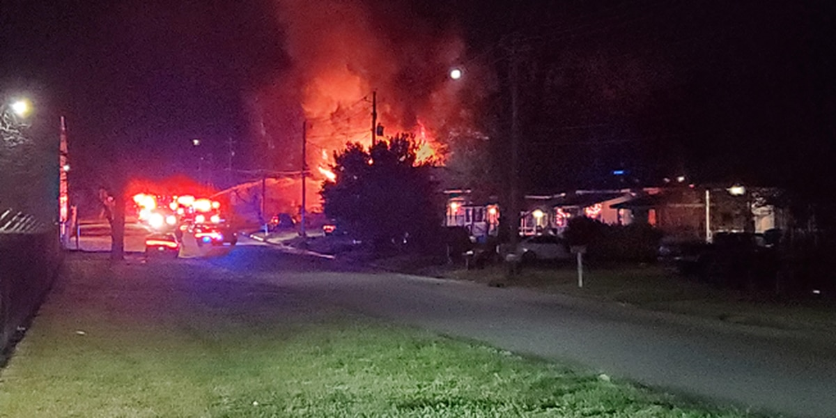 Fire crews battle house fire on 4th Ave.