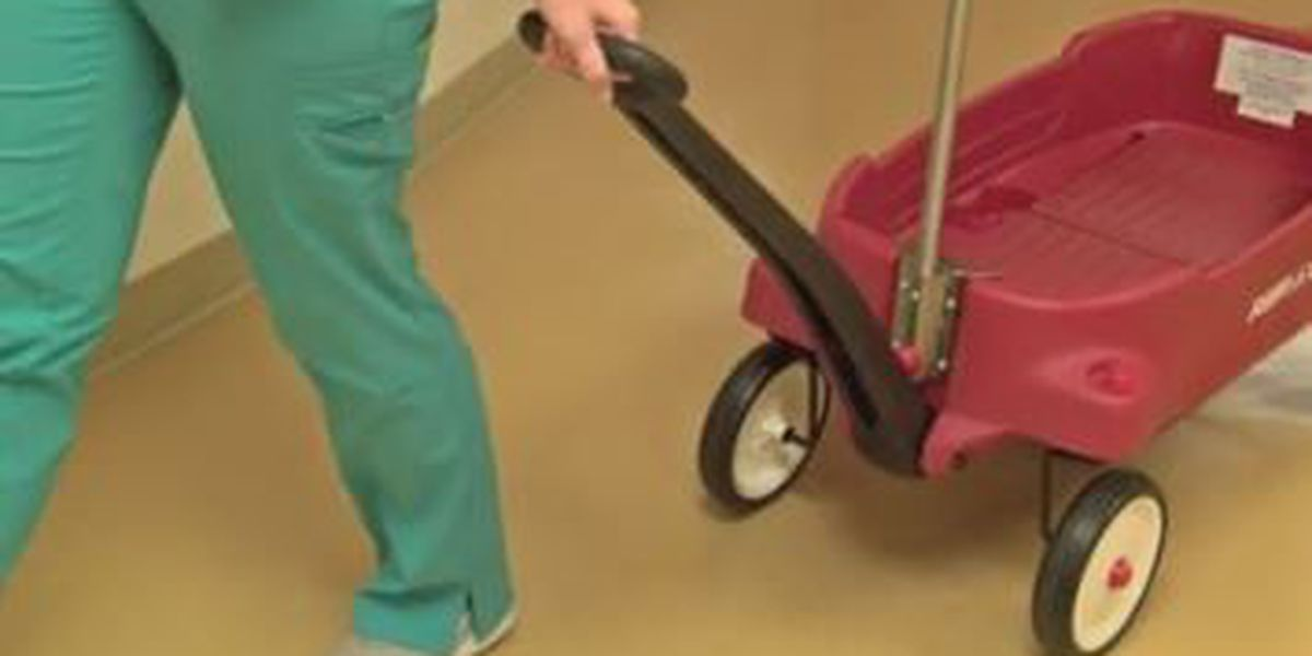 Special red wagons bring joy, mobility to young patients in Columbus