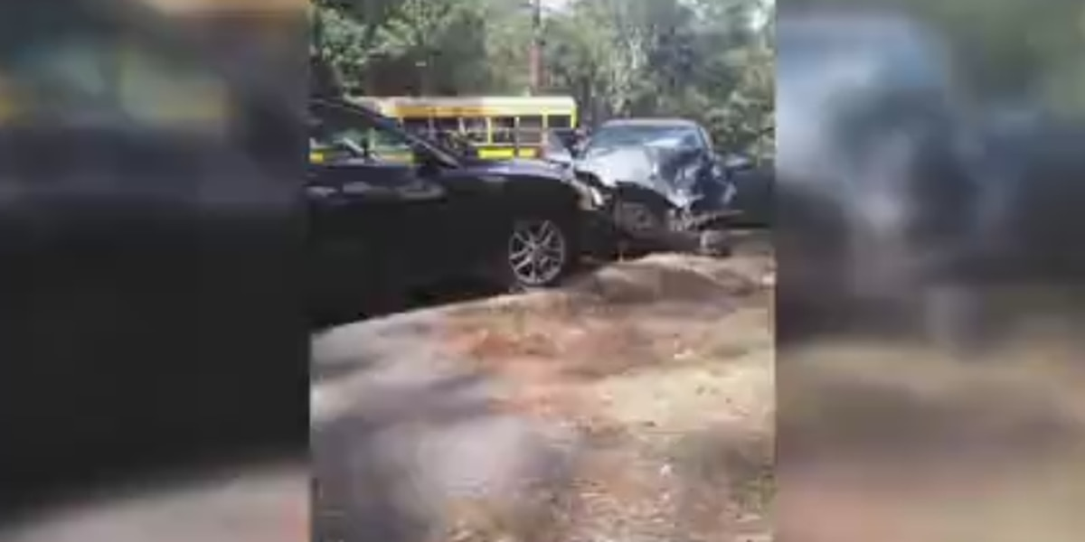 MCSD school bus involved in three-vehicle accident on Forrest Rd.
