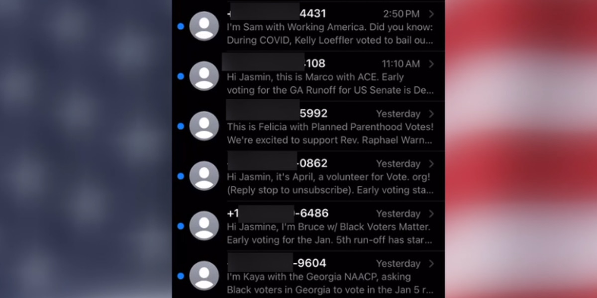 Georgians receiving more texts, calls from campaigns and organizations during 2020 election season