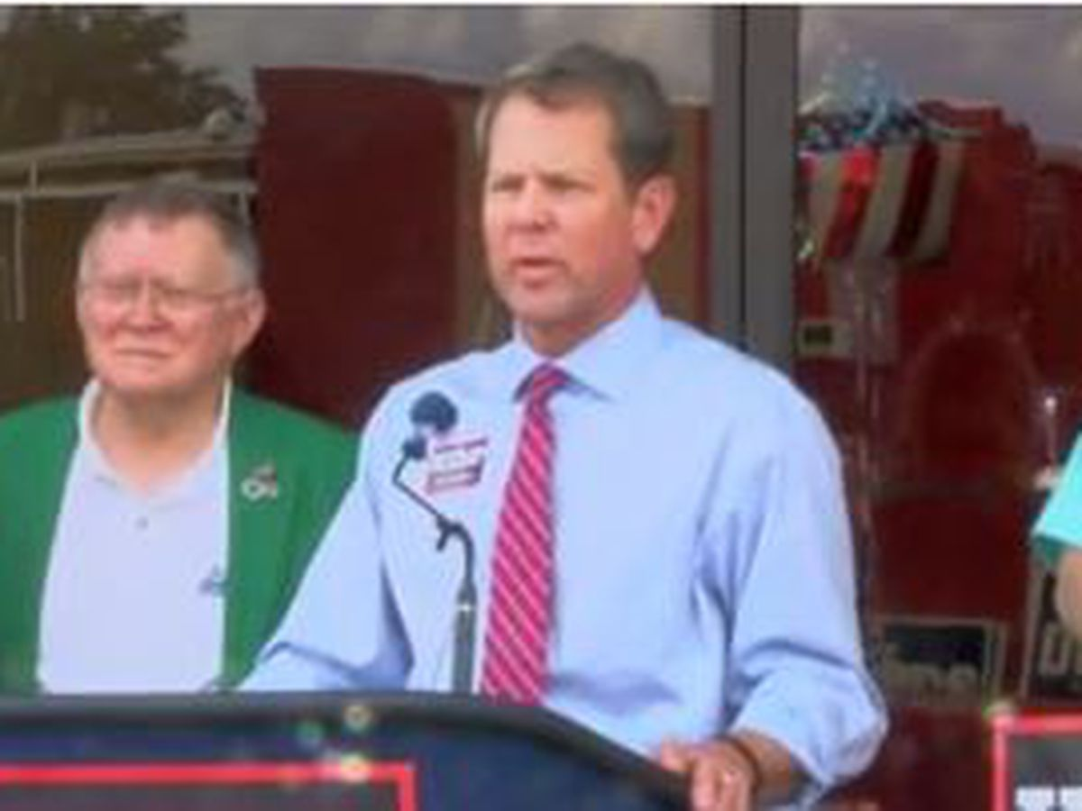 GA governor candidate Brian Kemp visits Columbus for event at GOP headquarters