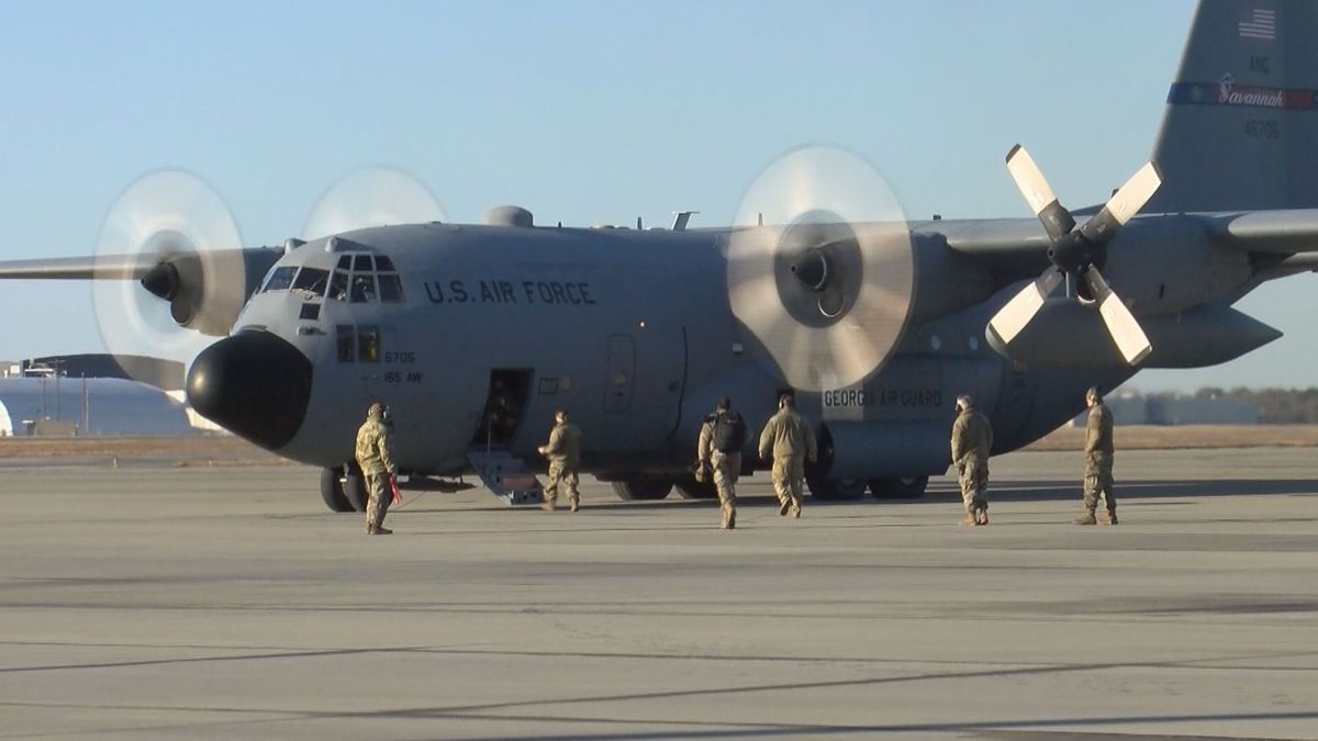 Members of 165th Airlift Wing deployed to D.C. for Biden's inauguration