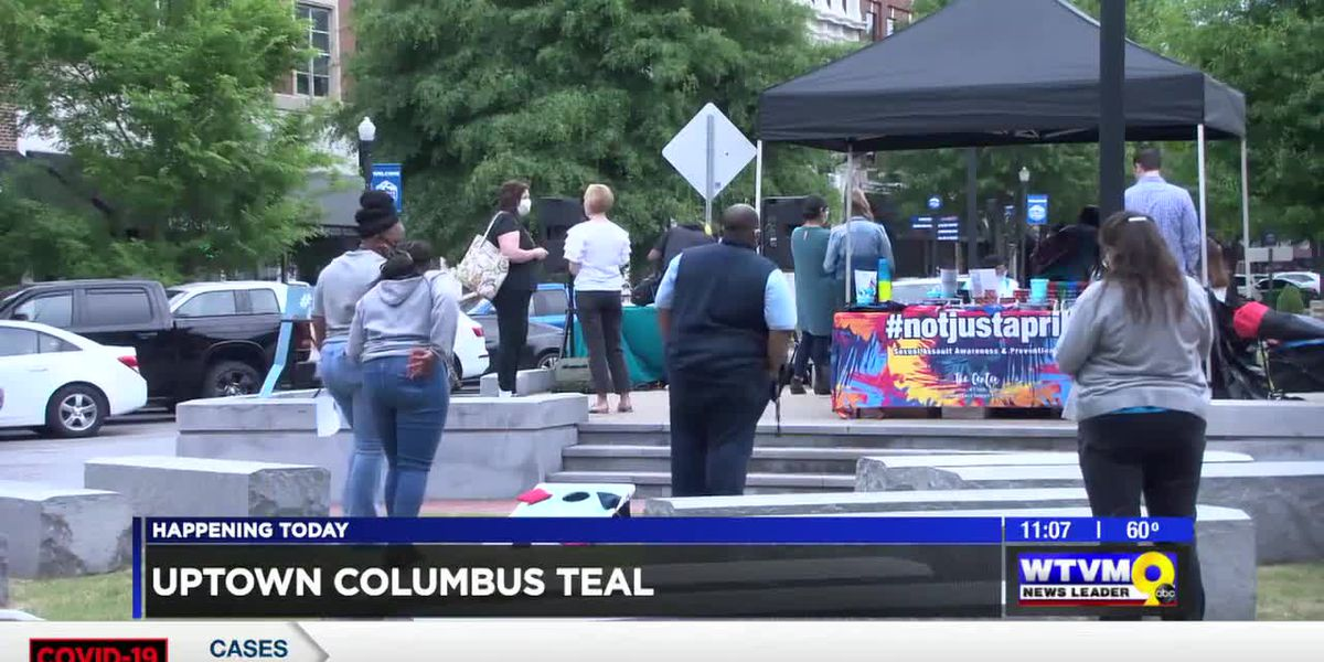 Sexual Assault Support Center hosts Teal the Town event in downtown Columbus