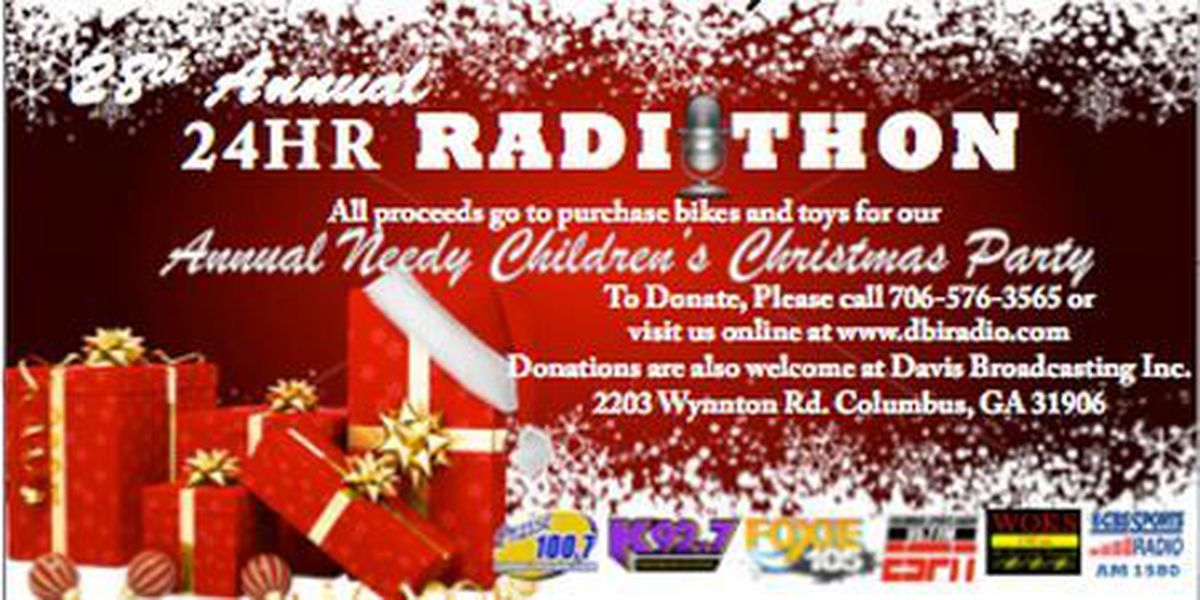 Davis Broadcasting's Radio-Thon accepting donations for needy children