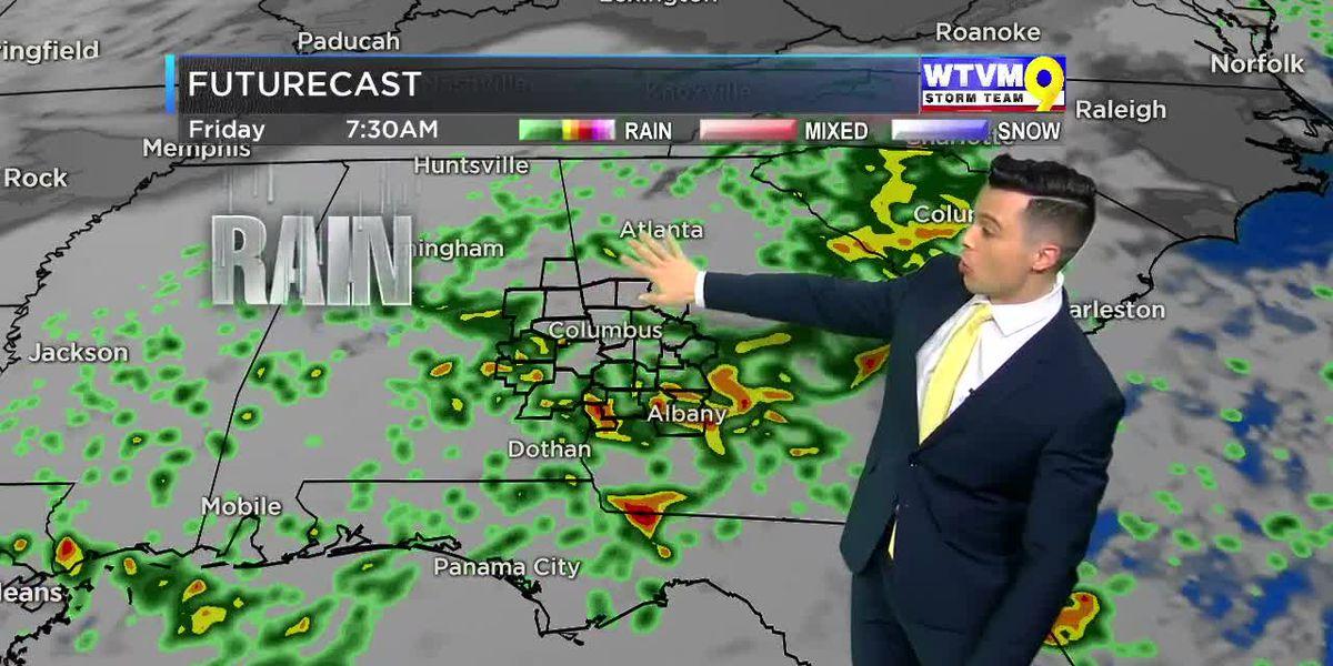 Gulf Low To Bring Rainy Weather