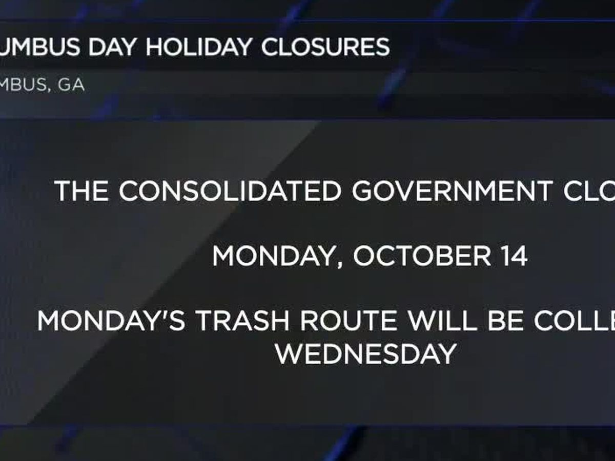 Columbus Day closures in the Fountain City