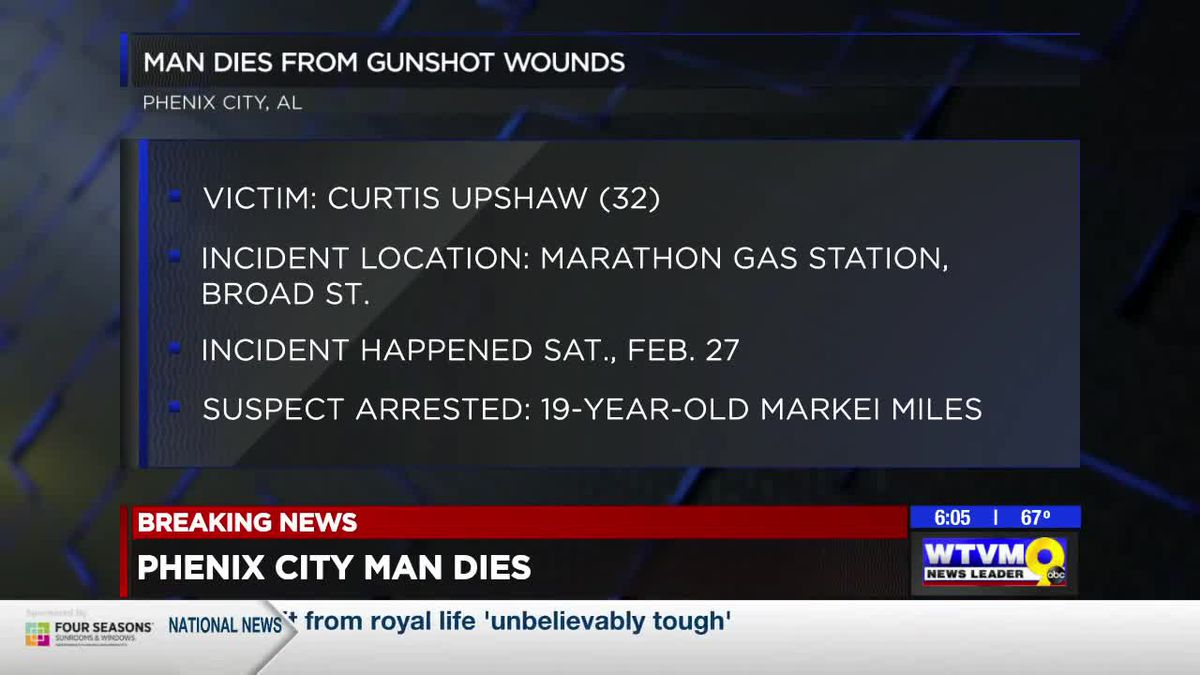 Phenix City police charge man with capital murder in gas station shooting
