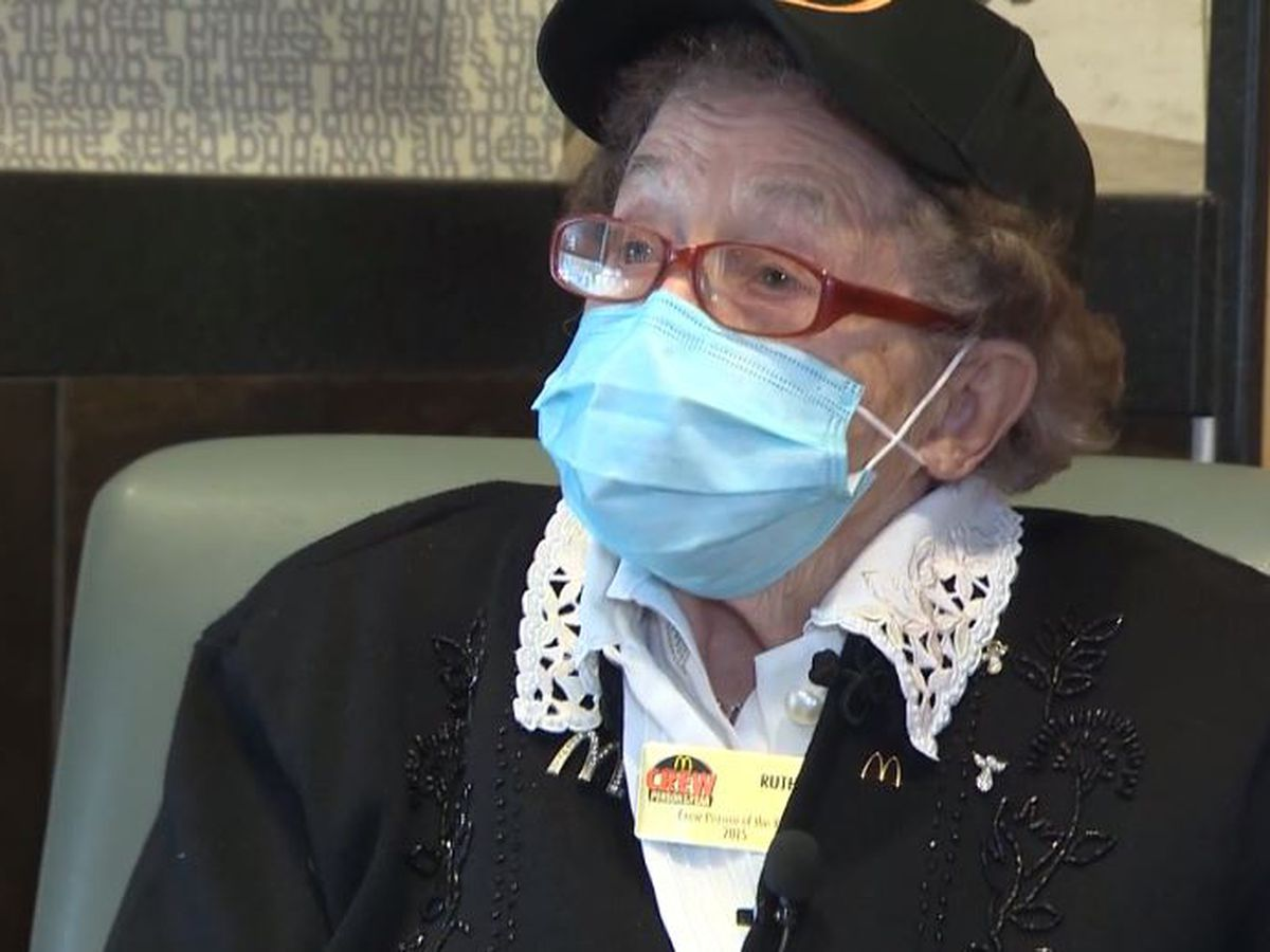McDonald's worker celebrates 100th birthday with special mailbox
