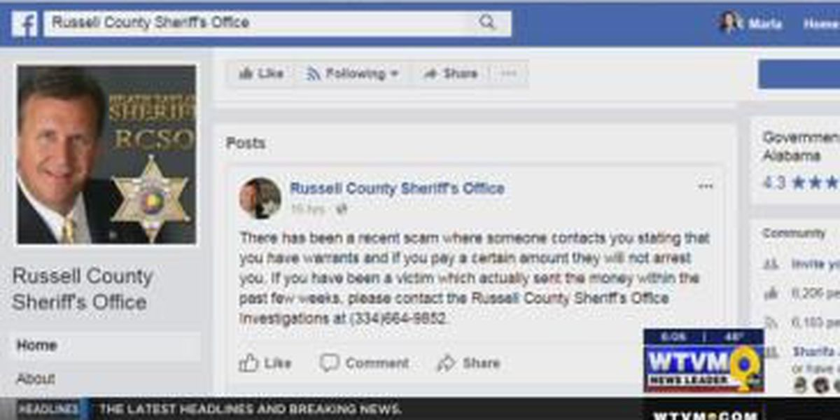 Russell County Sheriff's Office warns of phone scam