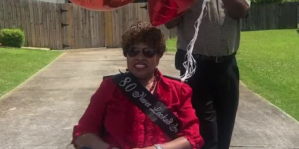 East Ala. woman surprised with 80th birthday parade