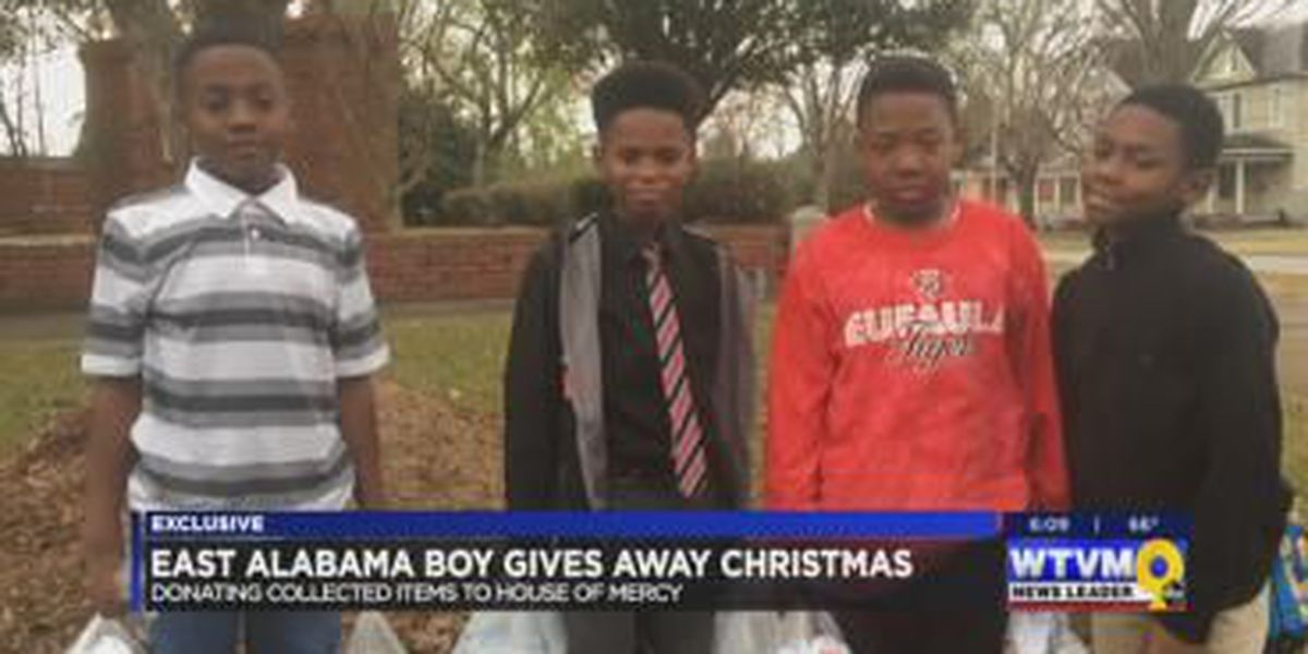 Alabama boy gives up Christmas gifts to help the homeless
