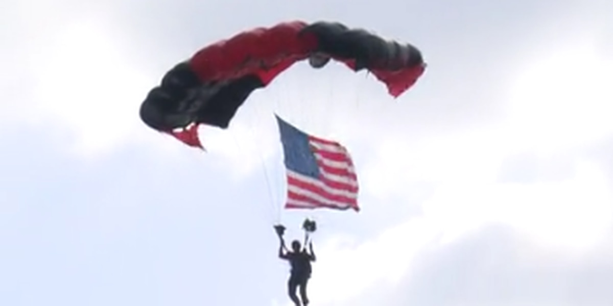MILITARY MATTERS: Army honors healthcare workers with parachute jump