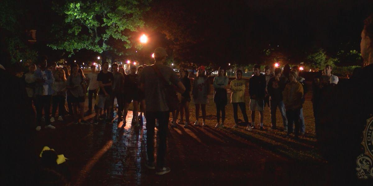 Dozens gather for Aniah Blanchard vigil