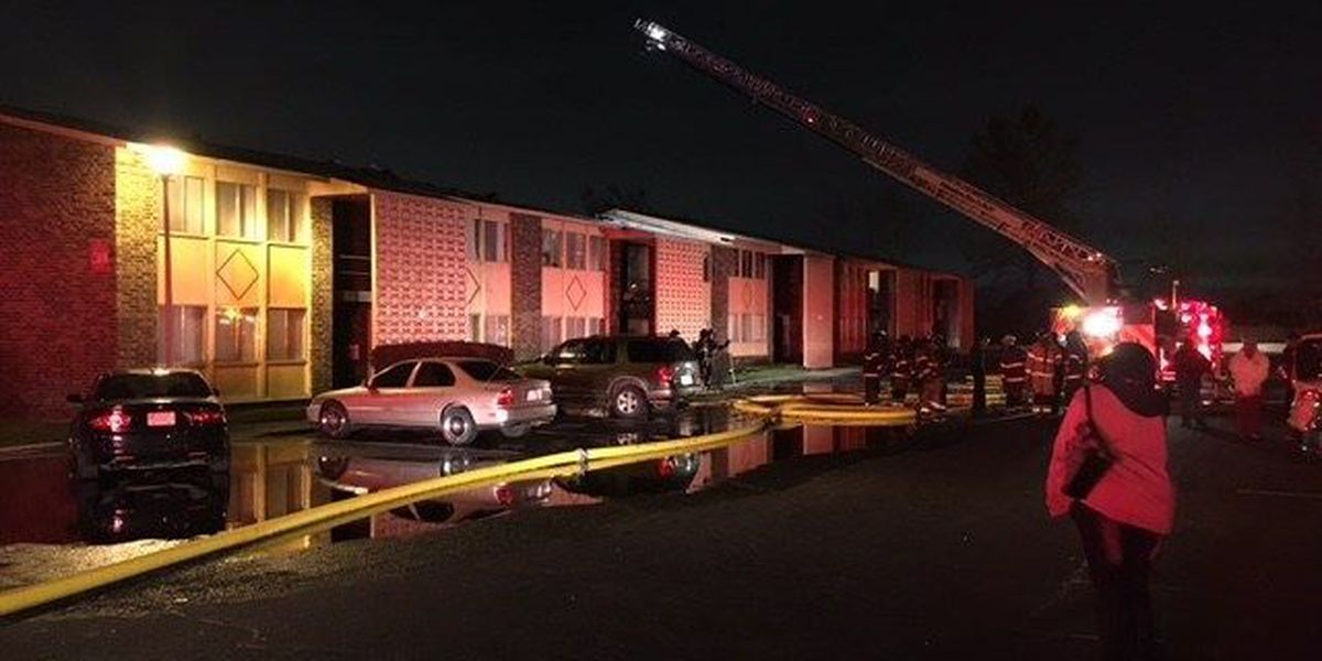 Columbus apartment fire displaces at least 18 families