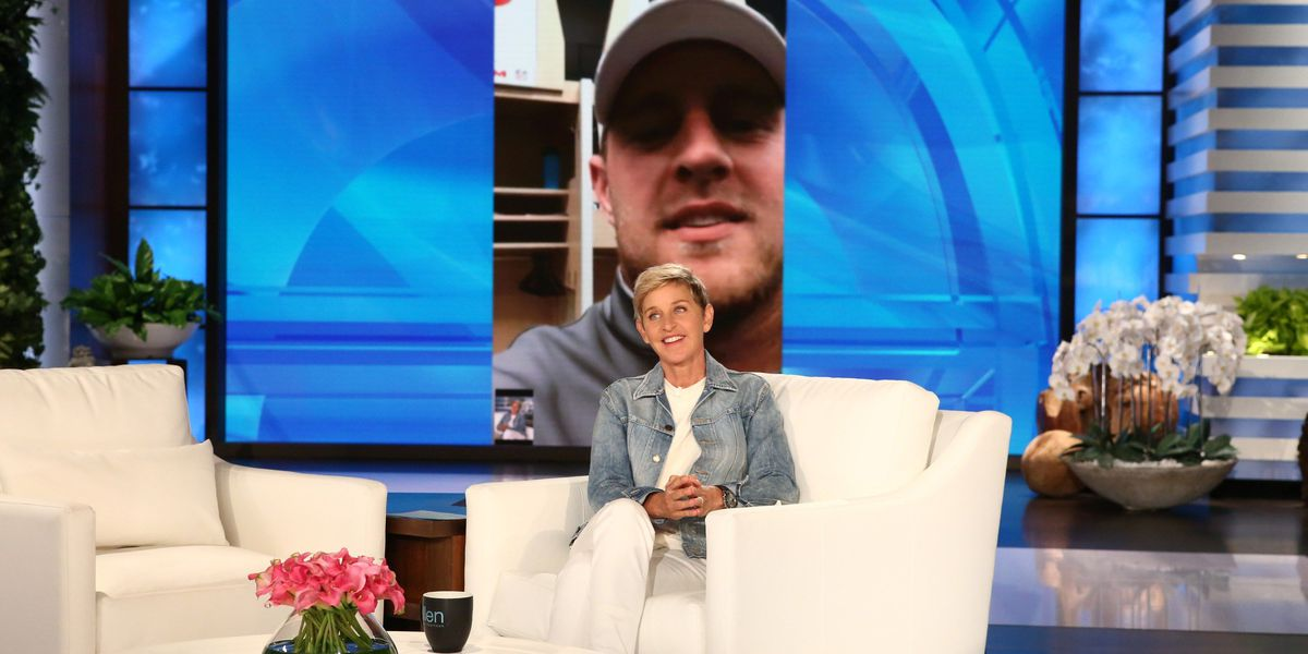 Ellen and Walmart donate $1 million to J.J. Watt's Harvey relief efforts