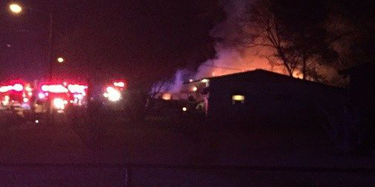 Columbus firefighters battling a house fire on 28th Ave.