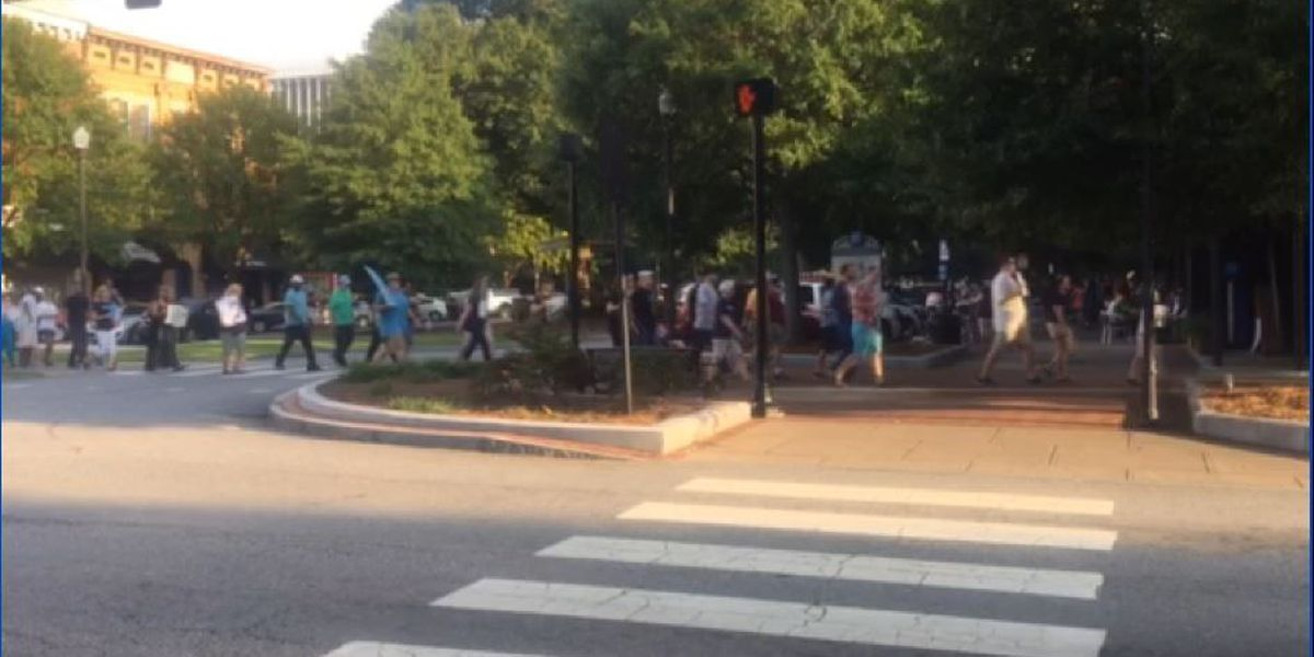 Peaceful protesters gather in Columbus after violent VA white nationalist rally