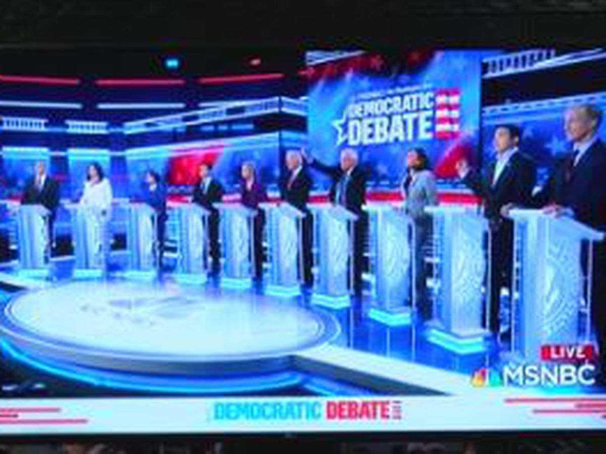 Democratic presidential debate wraps up in Atlanta