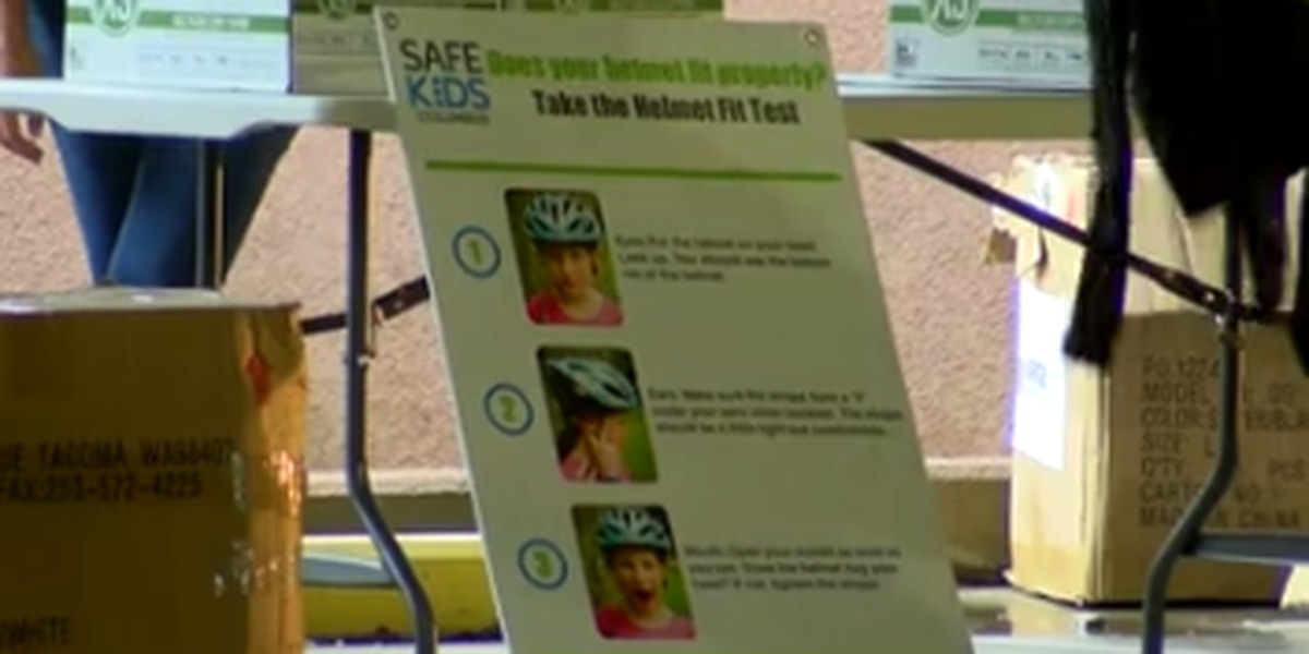 Safe Kids Columbus gives over 100 bike helmets to children in the community