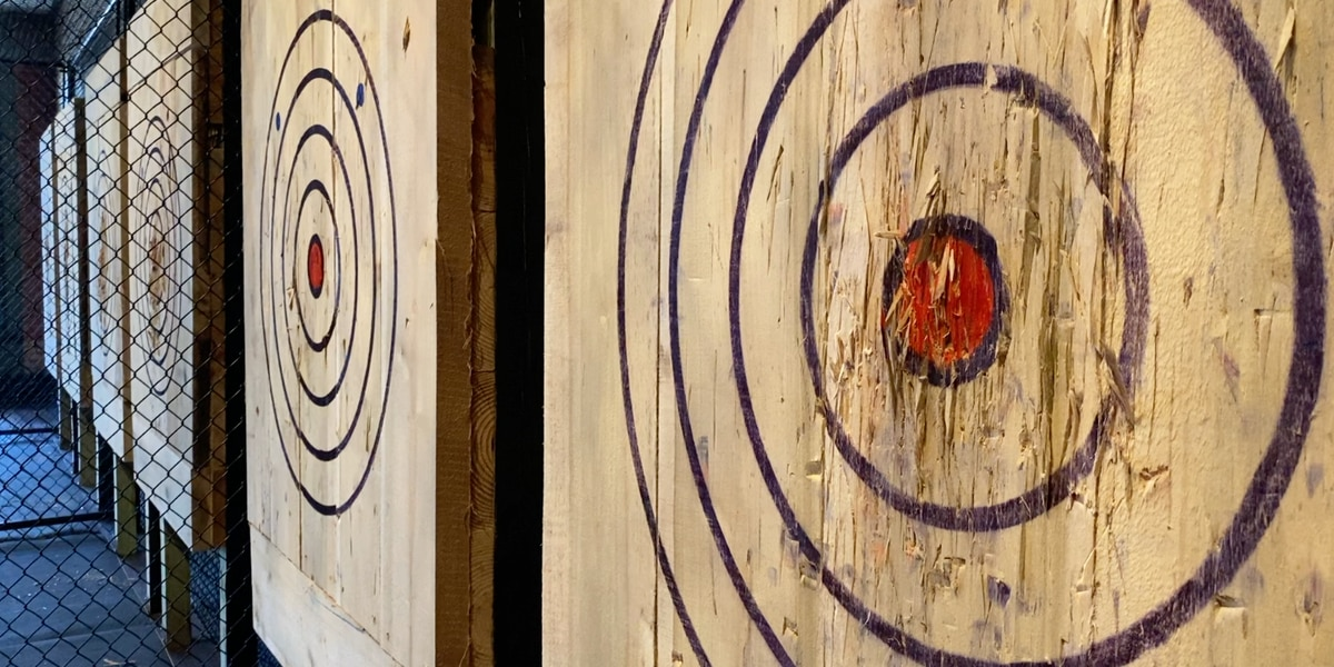 Local axe throwing business reopens in permanent location after delay in renovations