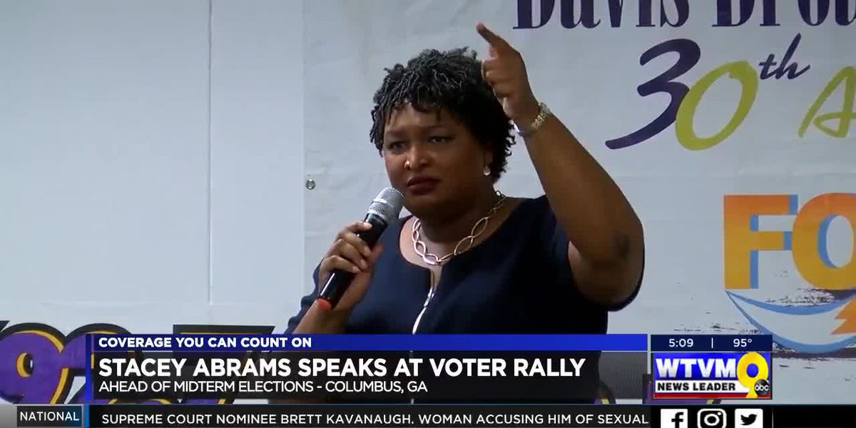 Stacey Abrams speaks at voter rally in Columbus