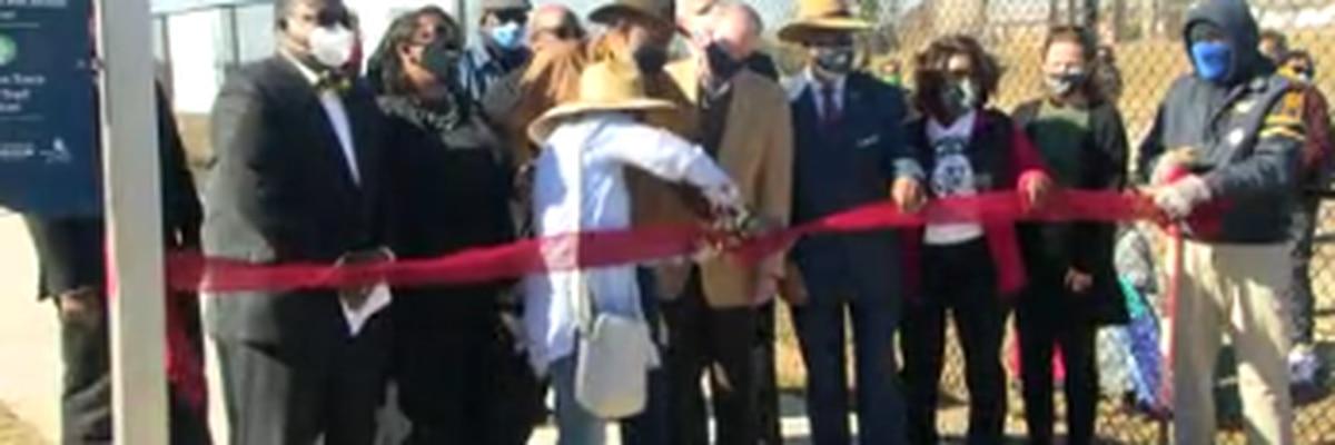 Ribbon cutting held for community garden at Davis Elementary School in Columbus