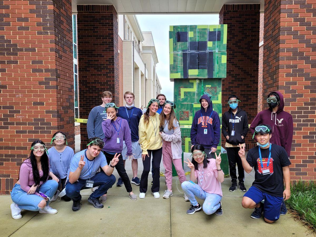 Senior Prank: Minecraft Creeper at Auburn High School