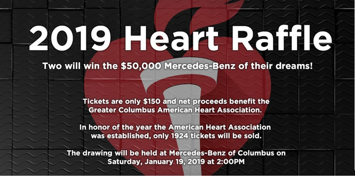 Luxury car raffle raising money for Greater Columbus American Heart Association