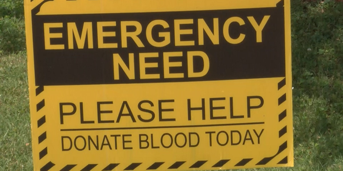 Desperate need for blood this summer, especially during severe weather