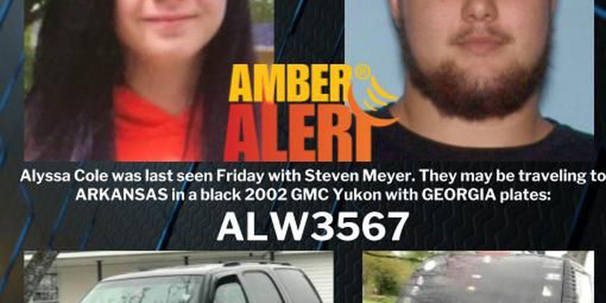 UPDATE: Amber Alert canceled, missing Ga teenager located