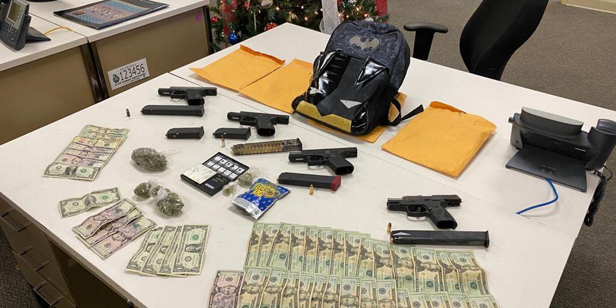 Opelika man, 3 juveniles arrested after guns, marijuana seized during traffic stop