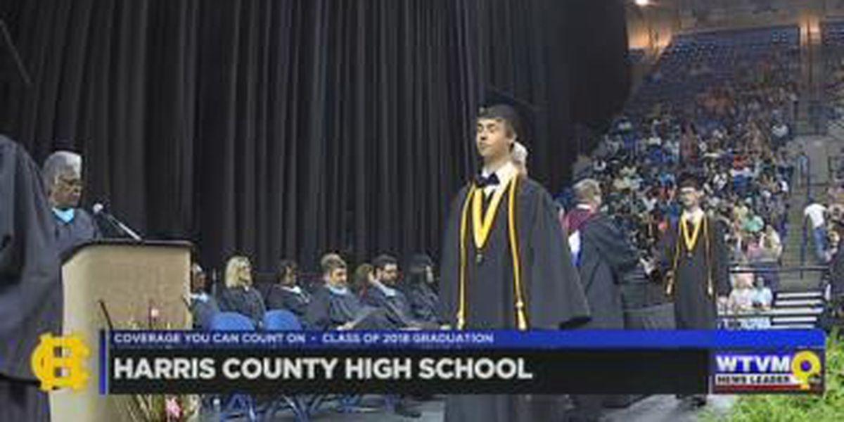 WATCH: Harris County High School graduates a group of seniors