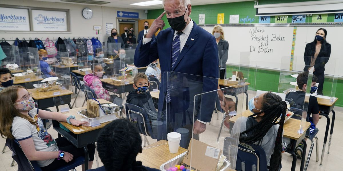 Remote learning still widespread even after Biden hits goal