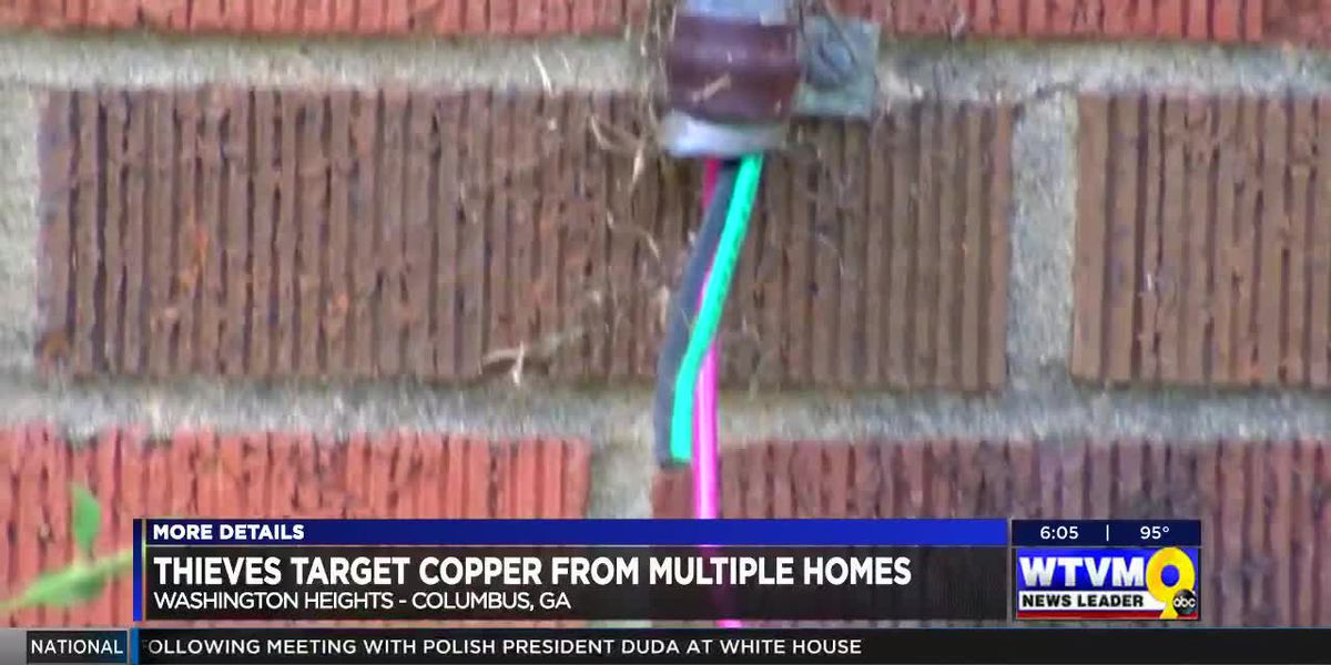 Copper thieves caught on camera stealing from Columbus neighborhood